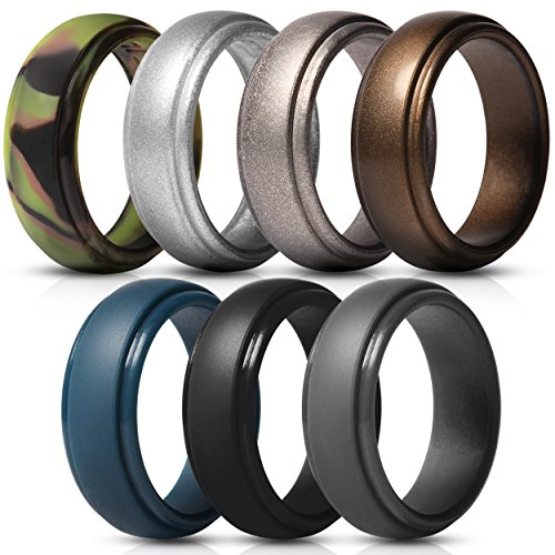 NEW Stackable Silicone Wedding Ring For Women. Thin