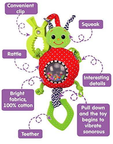 Haha Baby Soft Hanging Rattle Toy Infant Stroller Car Seat