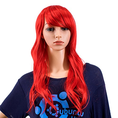 Hearty 28 Long Straight Wigs For Women Heat Resistant Falt Bangs Natural Ombre Wig Cosplay Costume Party Synthetic Hair Mapofbeauty Convenience Goods Synthetic None-lacewigs